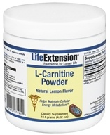 Life Extension - L-Carnitine Powder Lemon 1000 mg. - 4.02 oz. by Life Extension