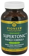 Pioneer - Supertonic Energy Formula - 60 Vegetarian Capsules CLEARANCED PRICED - $12.49