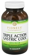 Pioneer - Triple Action Gastric Cool Natural Cherry Vanilla Flavor - 45 Chewables - $8.99