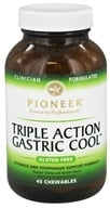 Pioneer - Triple Action Gastric Cool Natural Cherry Vanilla Flavor - 45 Chewables by Pioneer