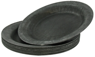 "Susty Party - Compostable Disposable Plates 10"" Black - 8 Count CLEARANCED PRICED by Susty Party"