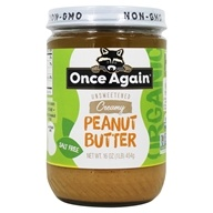 Once Again - Organic Peanut Butter Creamy No Salt - 16 oz. by Once Again