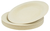 "Susty Party - Compostable Disposable Plates 10"" Natural - 8 Count by Susty Party"