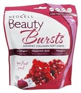 NeoCell - Beauty Bursts Gluten-Free Gourmet Collagen Super Fruit Punch - 60 부드러움은 씹는다