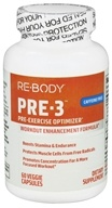 Image of ReBody - PRE-3 Pre-Exercise Optimizer (Caffeine Free) - 60 Vegetarian Capsules CLEARANCED PRICED