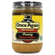 Once Again - Natural Old Fashioned Peanut Butter Creamy No Salt - 16 oz. (044082031415)