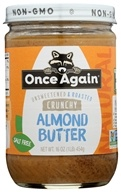 Once Again - Natural Almond Butter Crunchy - 16 oz., from category: Health Foods