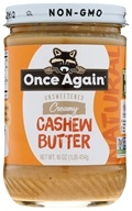 Image of Once Again - Natural Cashew Butter - 16 oz.