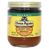 Once Again - Dawes Hills Pure Raw Organic Grade A Honey Killer Bee - 16 oz. (044082407012)