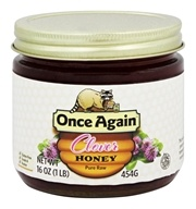 Once Again - Dawes Hills Pure Raw Grade A Honey Clover - 16 oz. by Once Again