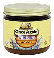Once Again - Dawes Hills Pure Raw Grade A Honey Wildflower - 16 oz. by Once Again