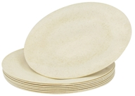 "Susty Party - Compostable Disposable Plates 7"" Natural - 8 Count CLEARANCED PRICED"
