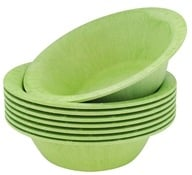Susty Party - Compostable Disposable Bowls 12 oz. Light Green - 8 Count CLEARANCED PRICED by Susty Party