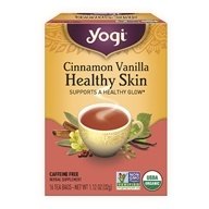 Yogi Tea - Healthy Skin Tea Cinnamon Vanilla - 16 Tea Bags (076950204584)