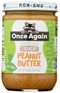Once Again - Organic Peanut Butter Crunchy No Salt - 16 oz. - $7.75