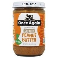 Once Again - Natural Old Fashioned Peanut Butter Crunchy No Salt - 16 oz. (044082031217)
