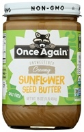 Once Again - Organic Sunflower Seed Butter Sugar & Salt Free - 16 oz.