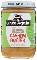 Once Again - Organic Cashew Butter - 16 oz.