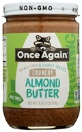 Image of Once Again - Organic Raw Almond Butter Crunchy - 16 oz.