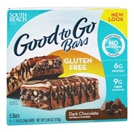 South Beach Diet - Good to Go Cereal Bars Gluten Free Dark Chocolate - 5 Bars (855919003761)