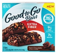 Image of South Beach Diet - Good to Go Cereal Bars Extra Fiber Dark Chocolate - 5 Bars