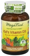 MegaFood - Kid's Vitamin D3 - 60 Tablets - $20.76