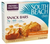 Image of South Beach Diet - Snack Bars Whipped Peanut Butter - 5 Bars CLEARANCED PRICED