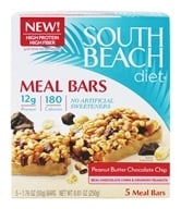 Image of South Beach Diet - Meal Bars Chocolate Peanut Butter - 5 Bars
