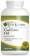 Image of LuckyVitamin - Cod Liver Oil - 250 Softgels