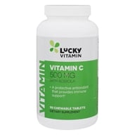 LuckyVitamin - Vitamin C With Acerola 500 mg. - 90 Chewable Tablets (048107130480)