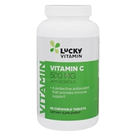 LuckyVitamin - Vitamin C With Acerola 500 mg. - 90 Chewable Tablets by LuckyVitamin