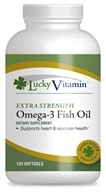 Image of LuckyVitamin - Omega-3 Fish Oil Extra Strength 1000 mg. - 120 Softgels OVERSTOCKED
