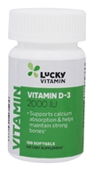 Image of LuckyVitamin - Vitamin D-3 2000 IU - 100 Softgels