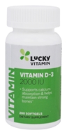 LuckyVitamin - Vitamin D-3 2000 IU - 200 Softgels by LuckyVitamin