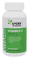 LuckyVitamin - Vitamin D-3 2000 IU - 365 Softgels, from category: Vitamins & Minerals