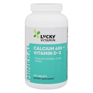 LuckyVitamin - Calcium 600 mg. vitamine positive D3 400 unité internationale - 225 comprimés