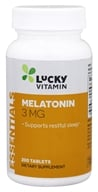 LuckyVitamin - Melatonin 3 mg. - 200 Tablets, from category: Nutritional Supplements