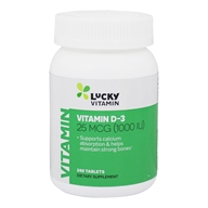 LuckyVitamin - Vitamin D-3 1000 IU - 240 Tablets, from category: Vitamins & Minerals