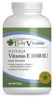 LuckyVitamin - Natural Vitamin E 1000 IU - 100 Softgels OVERSTOCKED