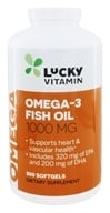 Image of LuckyVitamin - Omega-3 Fish Oil 1000 mg. - 500 Softgels
