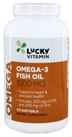 LuckyVitamin - Omega-3 Fish Oil 1000 mg. - 175 Softgels, from category: Nutritional Supplements