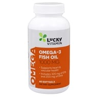 Image of LuckyVitamin - Omega-3 Fish Oil 1000 mg. - 60 Softgels OVERSTOCKED