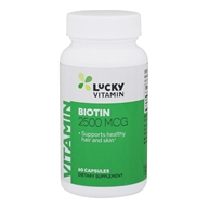 LuckyVitamin - Biotin 2500 mcg. - 60 Capsules by LuckyVitamin