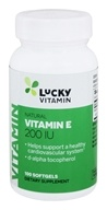 LuckyVitamin - 자연적인 비타민 E 200 IU - 100 Softgels