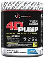 Image Sports - 4D Pump Pre-Workout Muscle Formula Arctic Ice 30 Servings - 11.64 oz. by Image Sports
