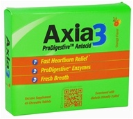 Image of Axia3 - ProDigestive Antacid Fast Heartburn Relief Orange Flavor - 45 Chewable Tablets