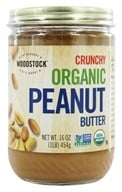 Woodstock Farms - Organic Peanut Butter Crunchy - 16 oz. (042563009120)