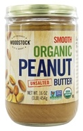 Woodstock Farms - Organic Peanut Butter Smooth Unsalted - 16 oz. by Woodstock Farms
