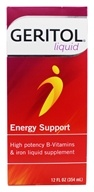 Geritol - Energy Support High Potency B Vitamins & Iron Liquid Supplement - 12 oz. Formerly Multi-Vitamin & Iron Supplement Tonic