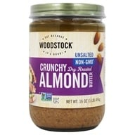 Image of Woodstock Farms - All-Natural Almond Butter Crunchy Unsalted - 16 oz.